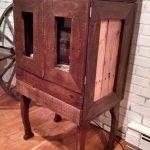 recycled pallet pipe cabinet
