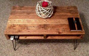 DIY Rustic Pallet Coffee Table – TV Stand