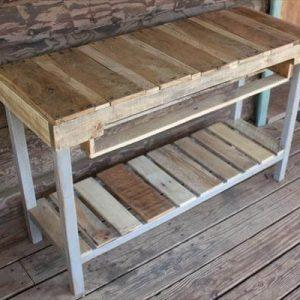 diy pallet console table with storage