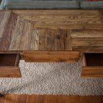 diy pallet desk with storage and metal legs