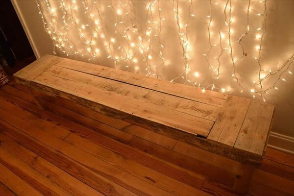 wooden pallet lovely x-long mudroom bench