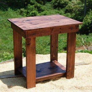 recycled pallet side table and bedside table