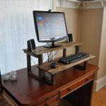 upcycled pallet unique standing computer desk