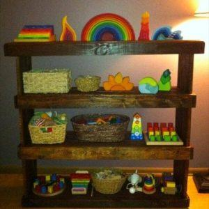 reclaimed pallet storage unit and bookcase