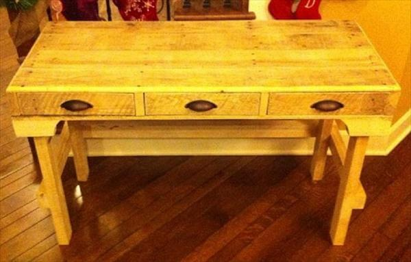 rustic yet modern pallet wood desk