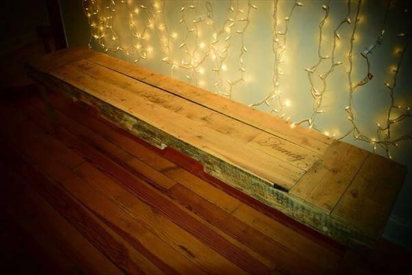 diy pallet x-long bench