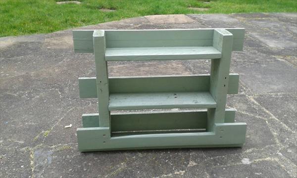 handmade pallet painted kitchen spice rack