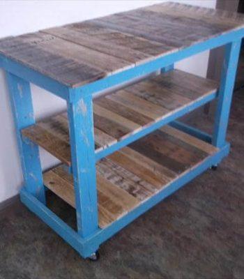 handmade pallet triple tiered pallet kitchen island table