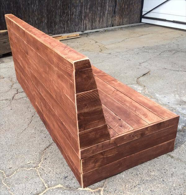 handcrafted pallet armless sofa