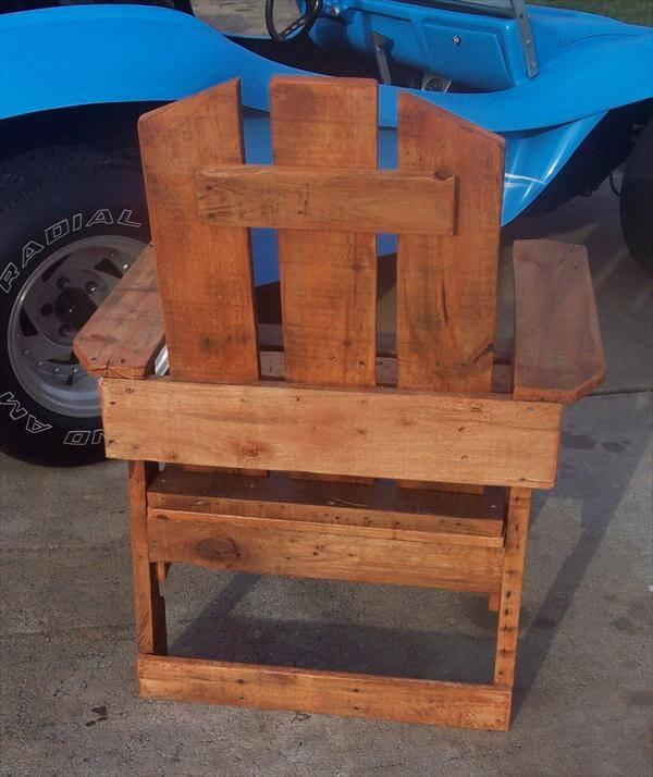 diy pallet rustic yet modern patio chair
