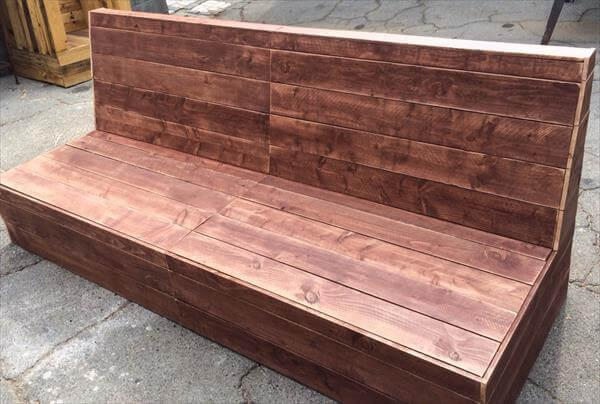 salvaged pallet sturdy armless sofa