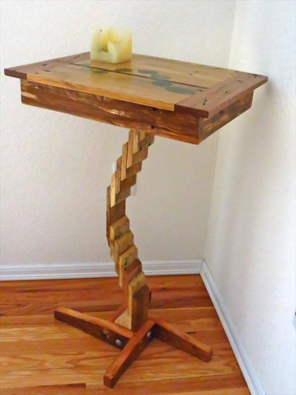 recycled pallet flow table