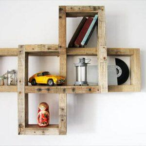 recycled pallet wall decorative wall shelf