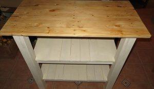 DIY Pallet Made Kitchen Island Table