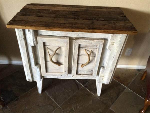 handcrafted pallet sideboard