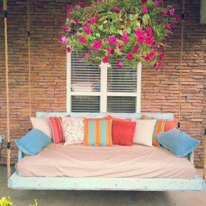 handmade pallet porch swing