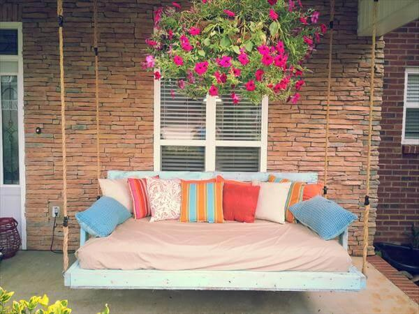 Diy Reclaimed Pallet Wood Porch Swing 101 Pallets