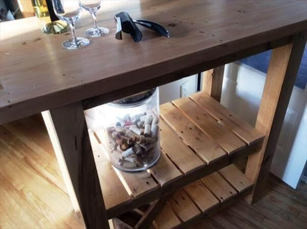 vintage pallet kitchen island table