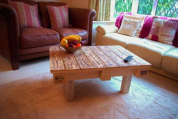 recycled pallet vintage coffee table