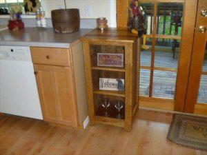 diy pallet floor cabinet with bathroom stoarge