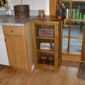 diy pallet floor cabinet with bathroom stoarge