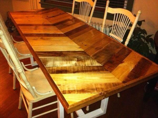 handmade pallet dining table