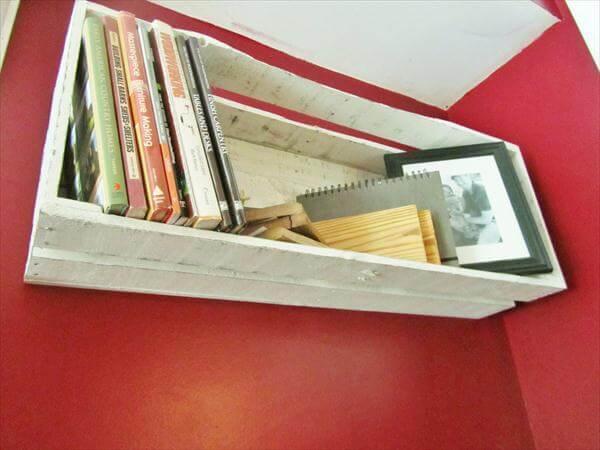upcycled pallet floating shelf