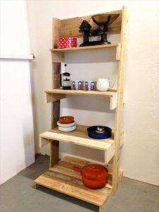 DIY Pallet Ladder Shelves Unit