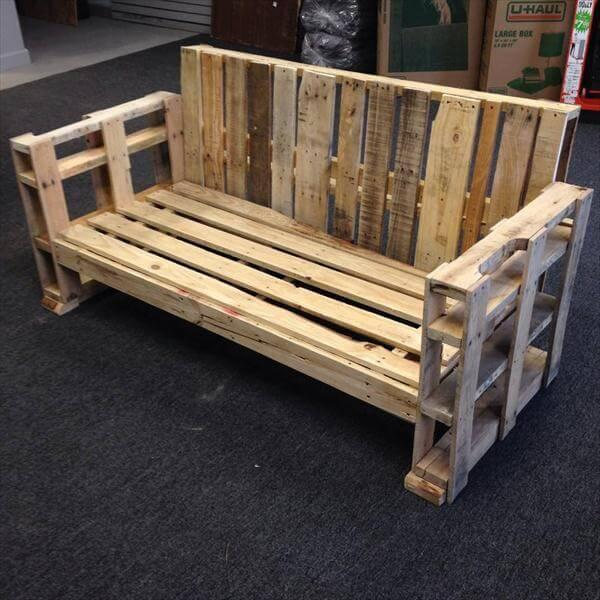 recycled pallet sofa and bench