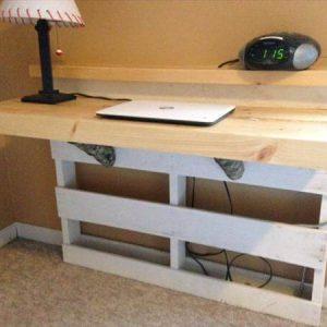 reclaimed pallet wall mount desk