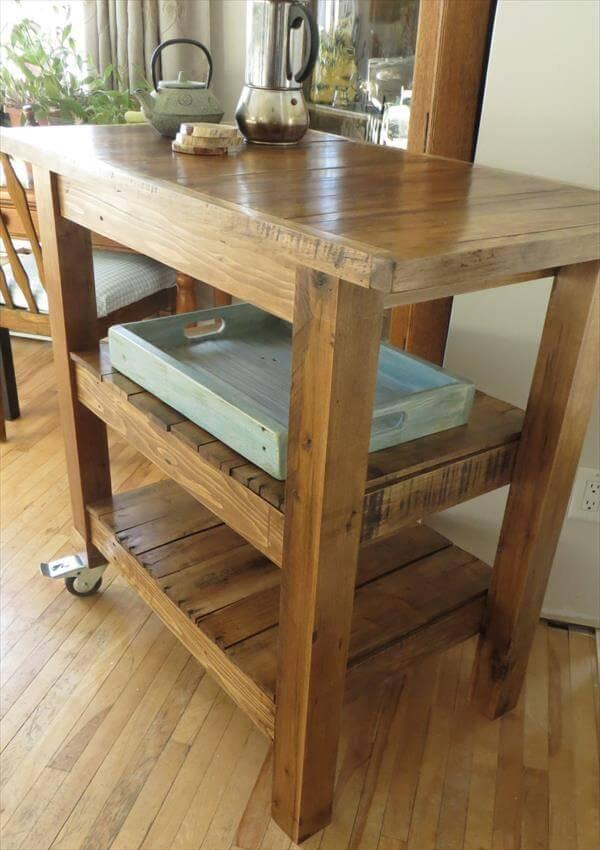 rustic yet modern kitchen serving table