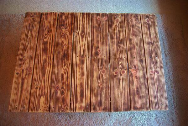 handmade pallet wood vintage coffee table