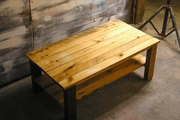 repurposed pallet coffee table