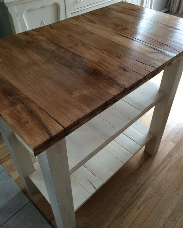 handmade pallet kitchen island table