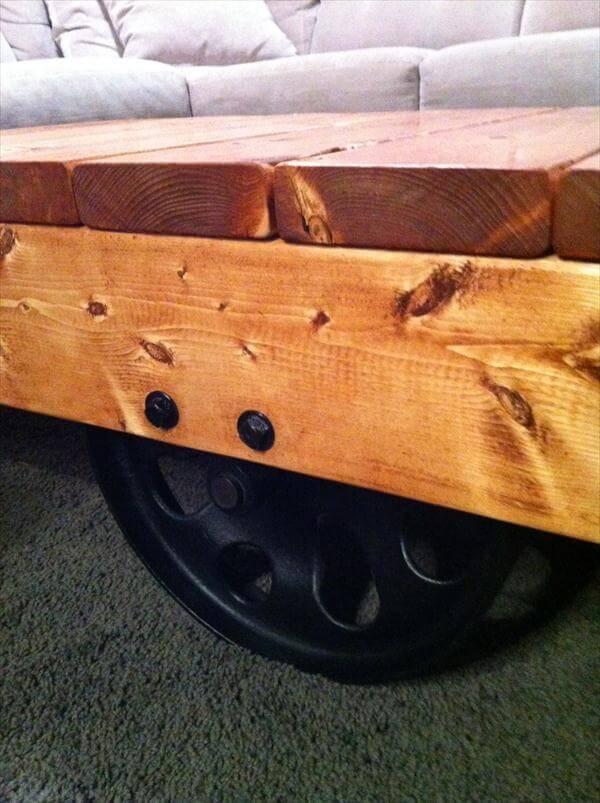 repurposed pallet vintage styled coffee table