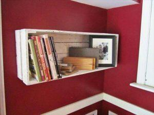 Wood Pallet Bookshelf / Wall Storage Shelf