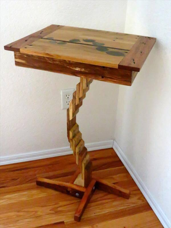 repurposed pallet artful table