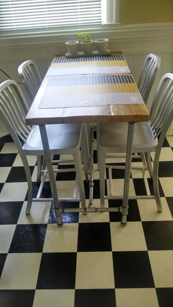 recycled pallet industrial dining table