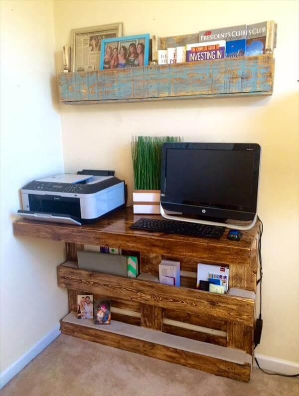 recycled pallet wall mount desk