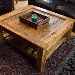 handcrafted pallet industrial coffee table