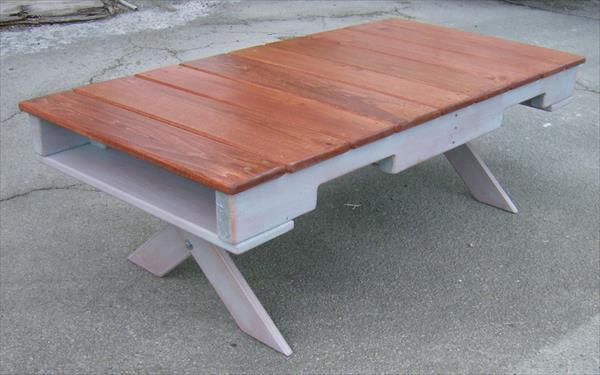 upcycled pallet custom built coffee table