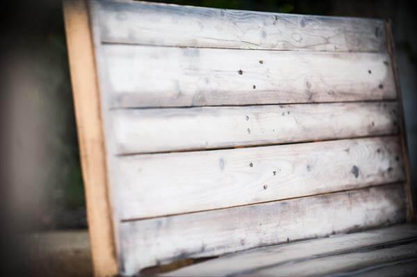 recycled pallet shoes rack bench