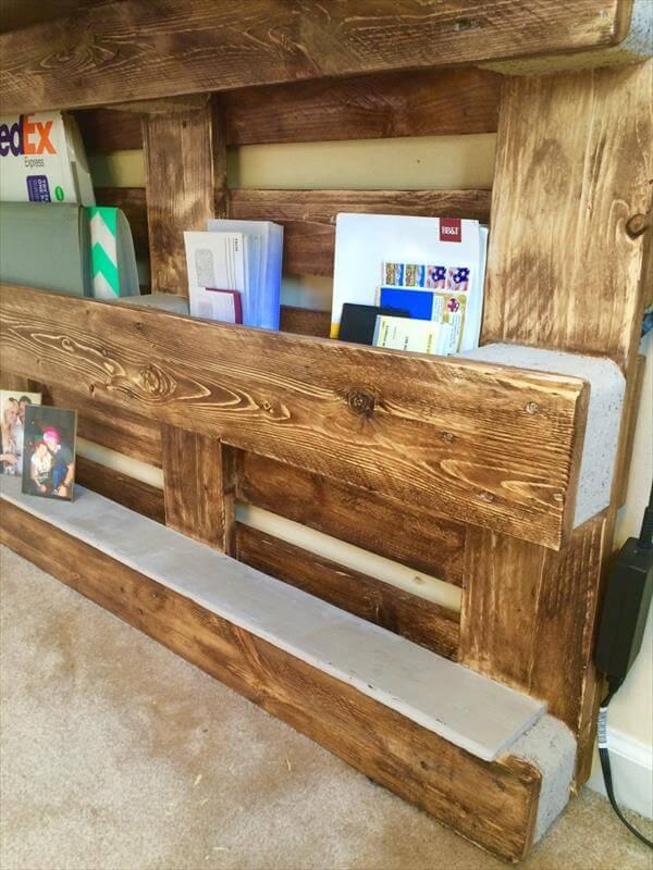 reclaimed pallet wood wall mount computer desk