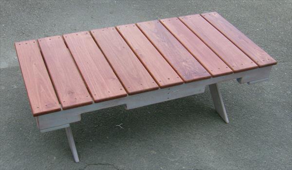 wooden pallet custom built coffee table