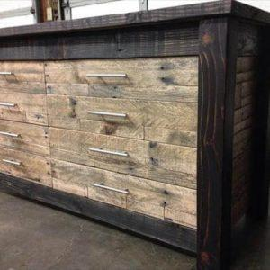 diy pallet chest of drawers and cabinet