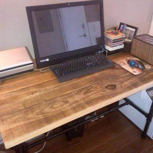 reclaimed pallet industrial computer desk