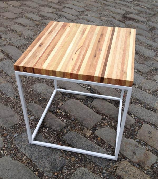 upcycled pallet end table and side table