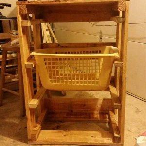 reclaimed pallet laundry basket