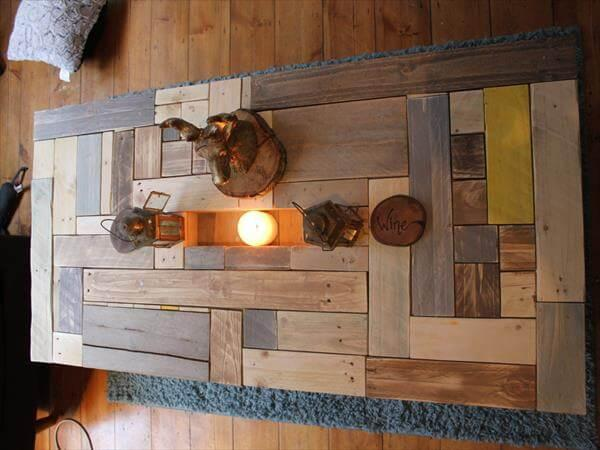 upcycled pallet vintage inspired coffee table