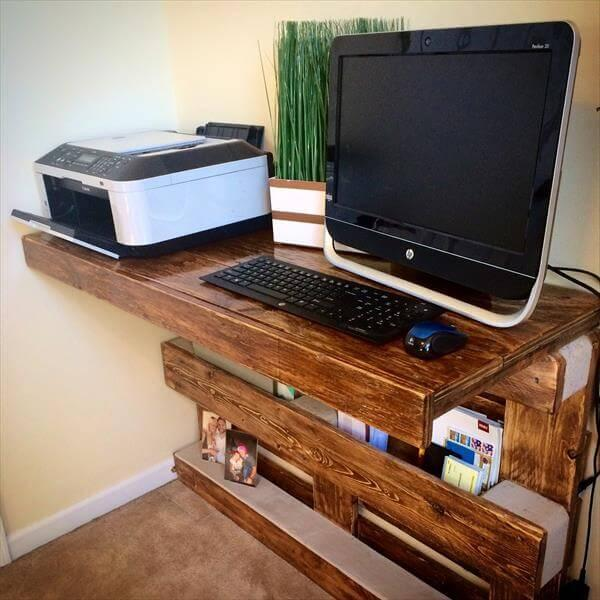 diy pallet wall mount computer desk